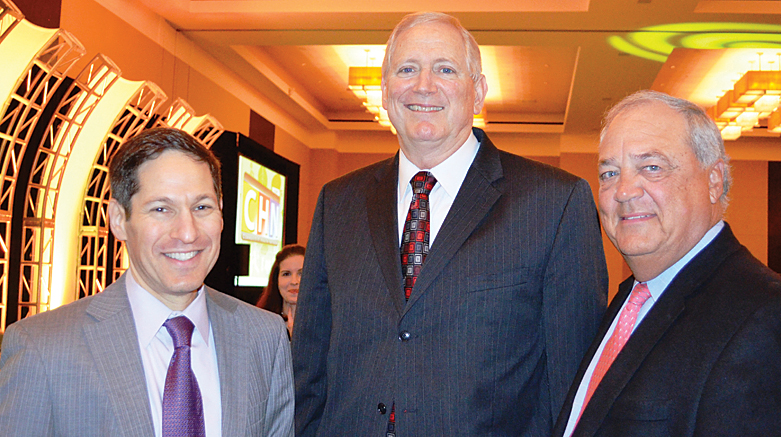 CDC Director Dr. Tom Frieden, CDC Foundation President and CEO, Charlie Stokes and Former CDC Foundation Board Chair Phil Jacobs at the Atlanta Business Chronicle's Healthiest Employers Award Breakfast