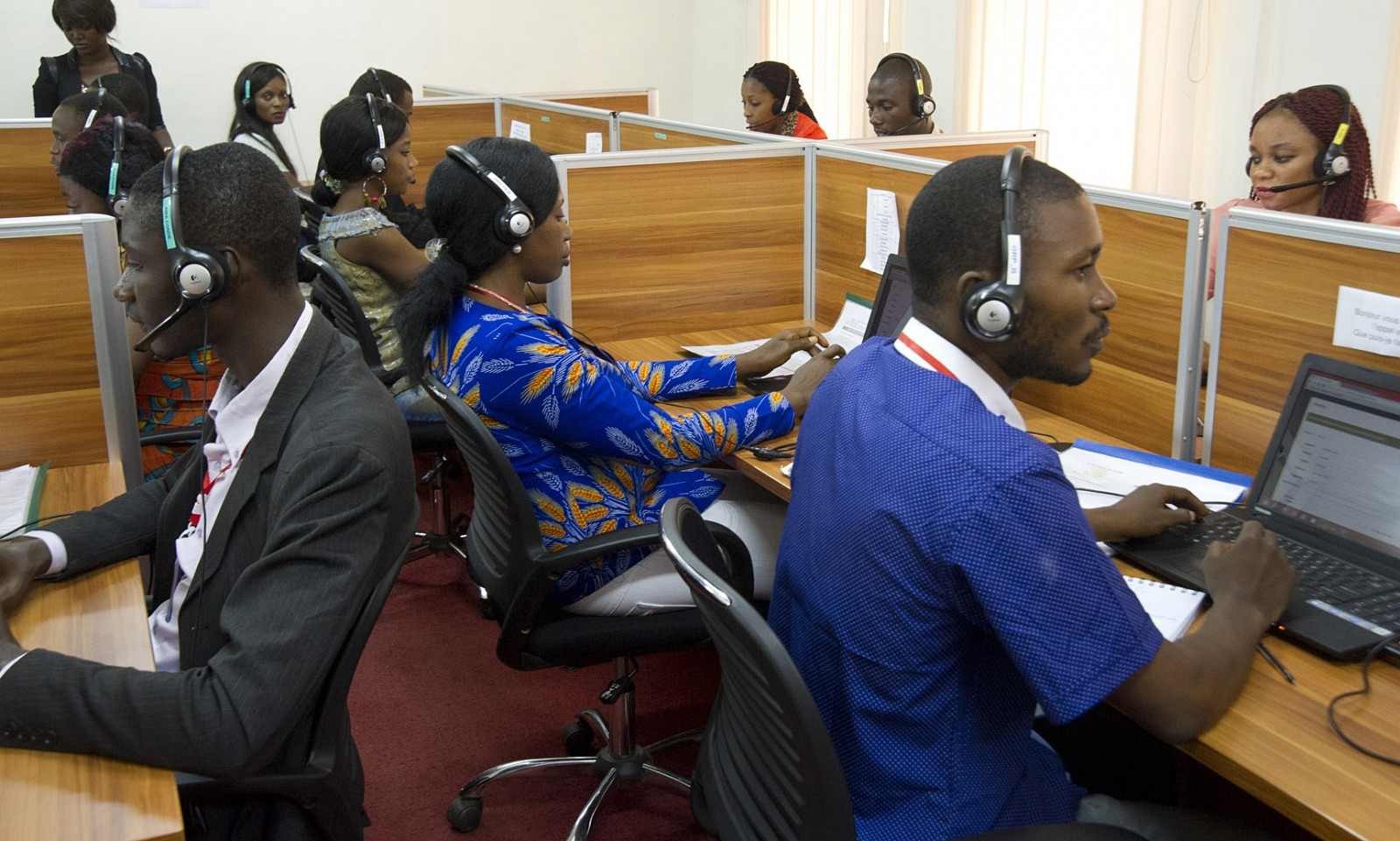 Ebola Call Center in Guinea