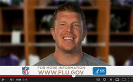 NFL player Matt Birk of the Baltimore Ravens talks flu