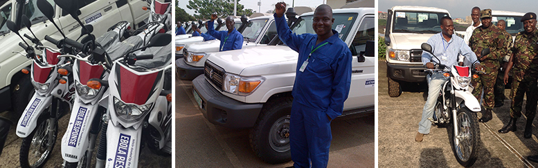 Ebola Response Vehicles